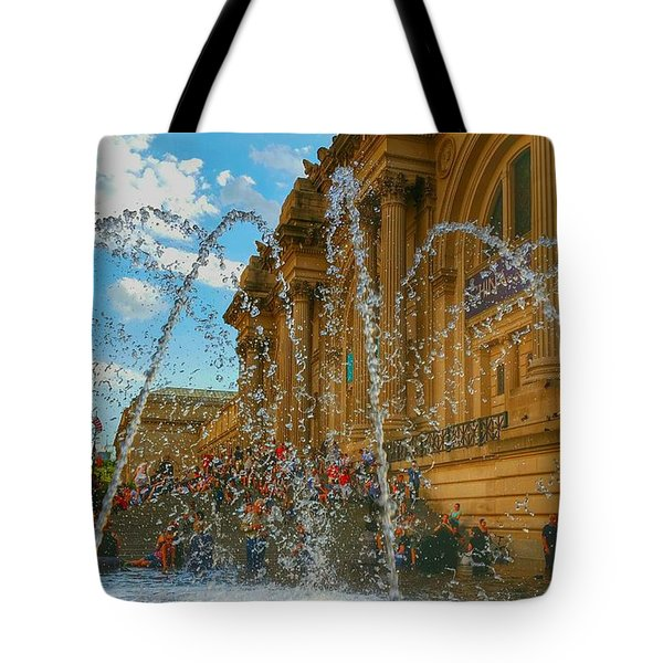 Tote Bag featuring the photograph City Fountain  by Raymond Earley