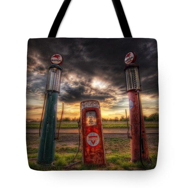 City Garage Sunset Tote Bag