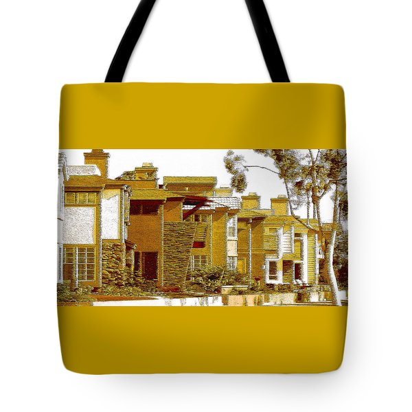 City Gold Tote Bag by Ben and Raisa Gertsberg