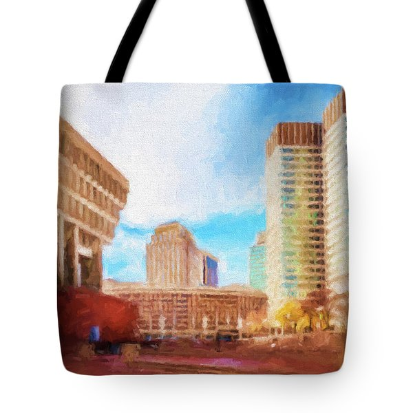 City Hall At Government Center Tote Bag