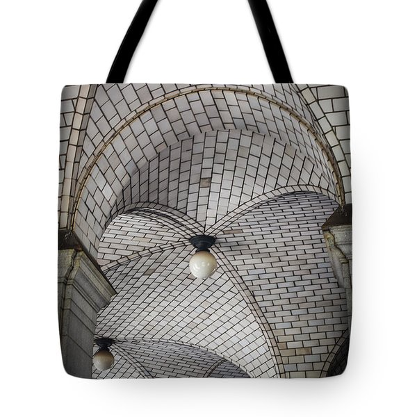 Tote Bag featuring the photograph City Hall Ceilings by Judy Wolinsky