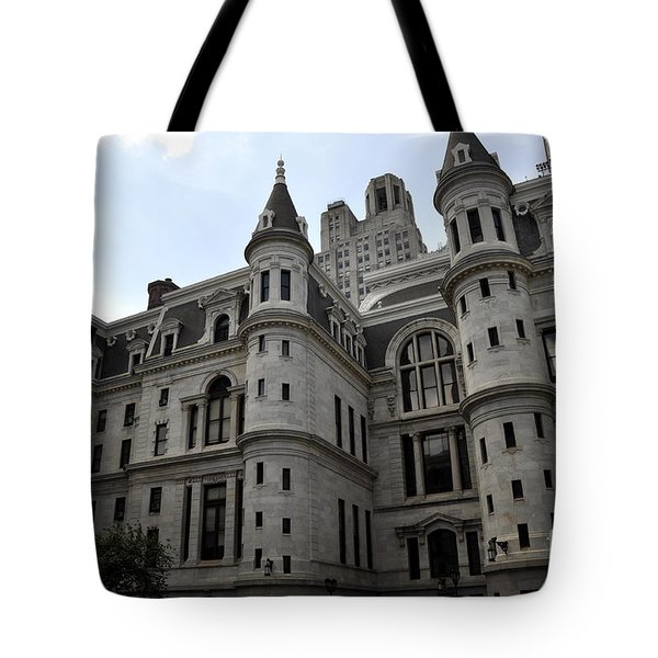 City Hall Courtyard Tote Bag