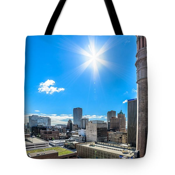City Hall East View Tote Bag by Randy Scherkenbach