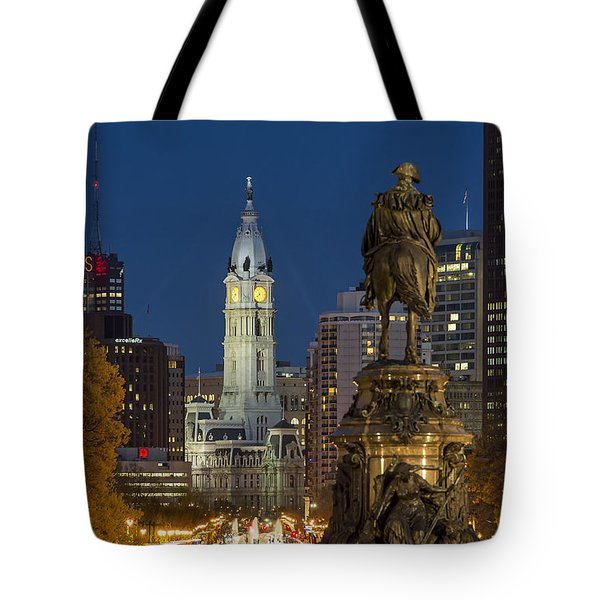 City Hall Philadelphia Tote Bag by John Greim