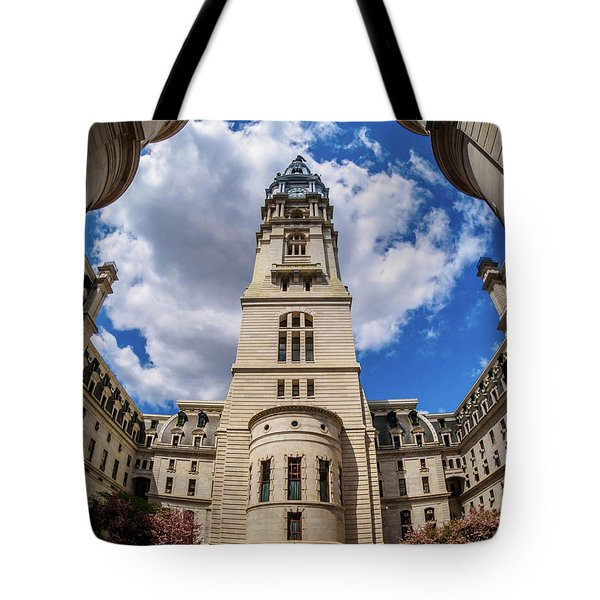 Tote Bag featuring the photograph City-hall-philadelphia-photo by Louis Dallara