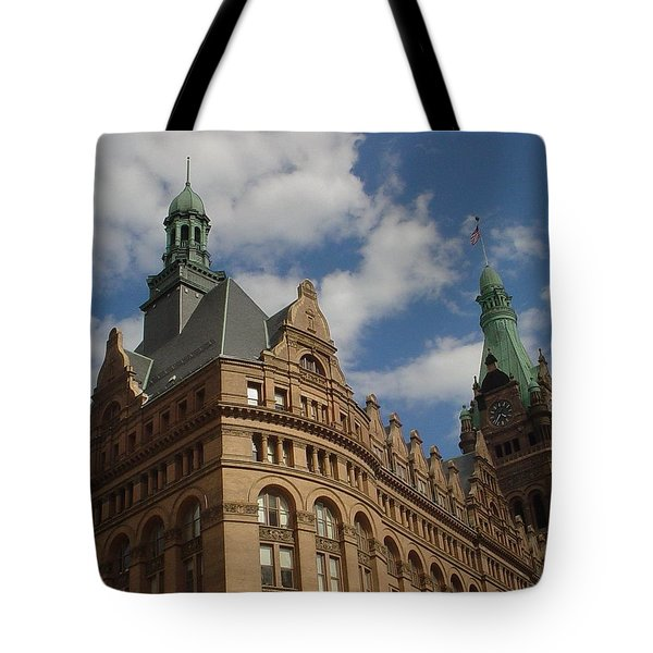 City Hall Roof And Tower Tote Bag by Anita Burgermeister