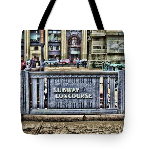 City Hall Sidewalk Tote Bag