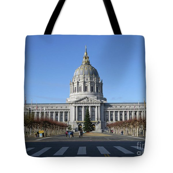 Tote Bag featuring the photograph City Hall by Steven Spak