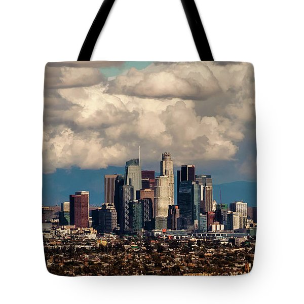 City In The Clouds Tote Bag