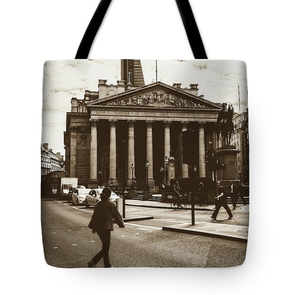 Tote Bag featuring the photograph City Life On London Streets by Jacek Wojnarowski