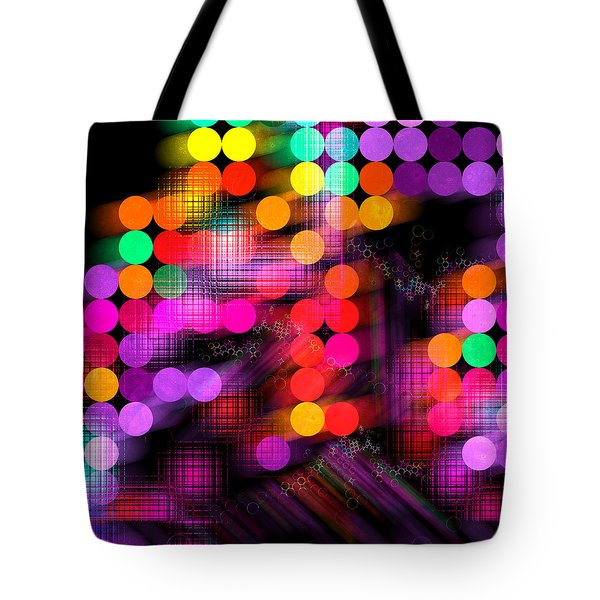 Tote Bag featuring the digital art City Lights by Fran Riley