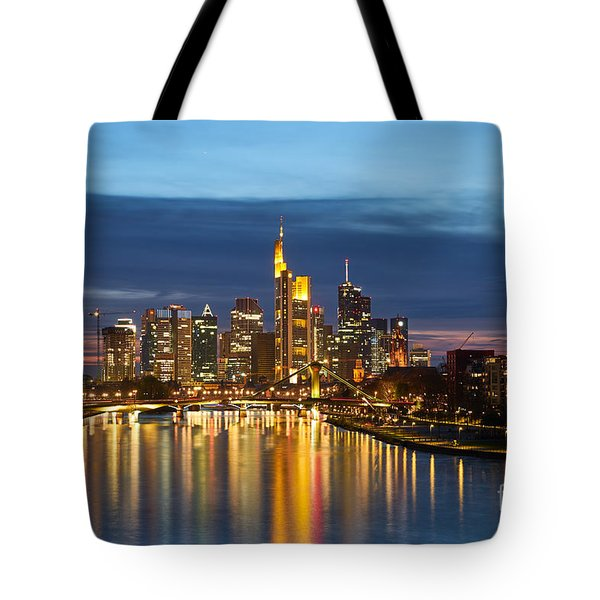 City Lights In Singapore Tote Bag