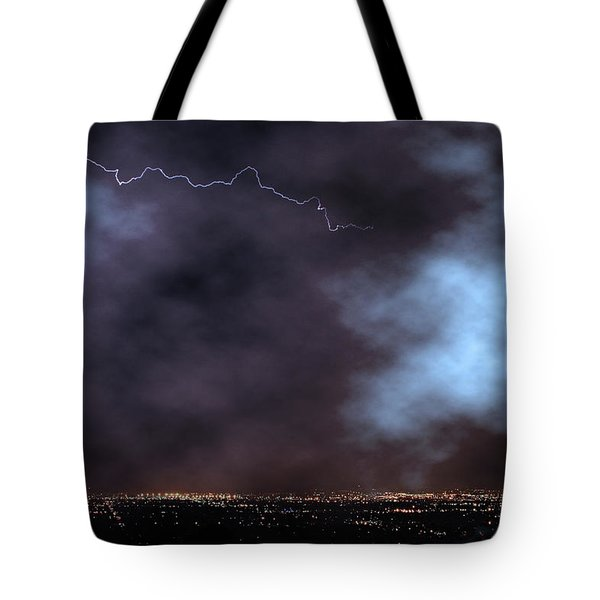 Tote Bag featuring the photograph City Lights Night Strike by James BO Insogna