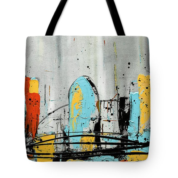 Tote Bag featuring the painting City Limits by Carmen Guedez
