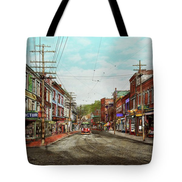 Tote Bag featuring the photograph City - Ma Glouster - A Little Bit Of Everything 1910 by Mike Savad