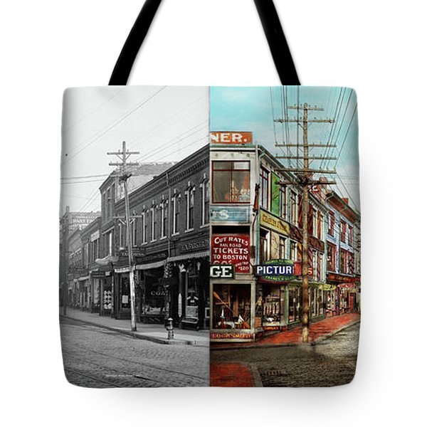Tote Bag featuring the photograph City - Ma Glouster - A Little Bit Of Everything 1910 - Side By Side by Mike Savad