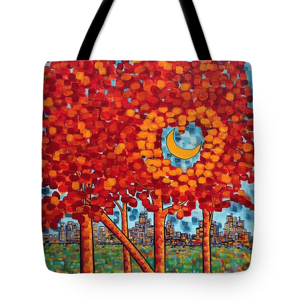 City Moonshine Tote Bag by Holly Carmichael