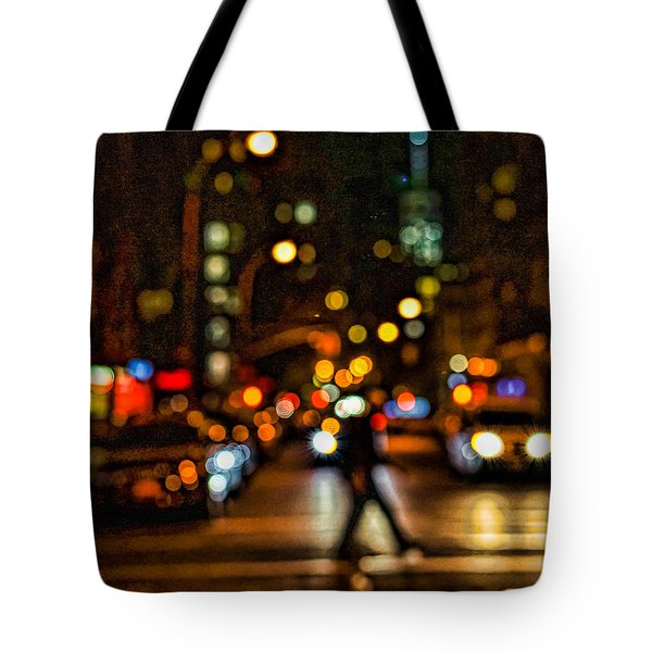City Nights, City Lights Tote Bag by Jeffrey Friedkin