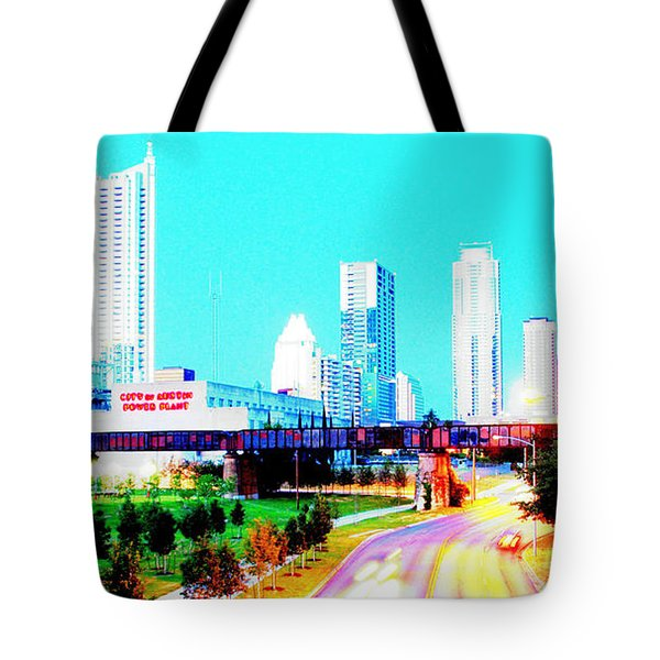 City Of Austin From The Walk Bridge 2 Tote Bag