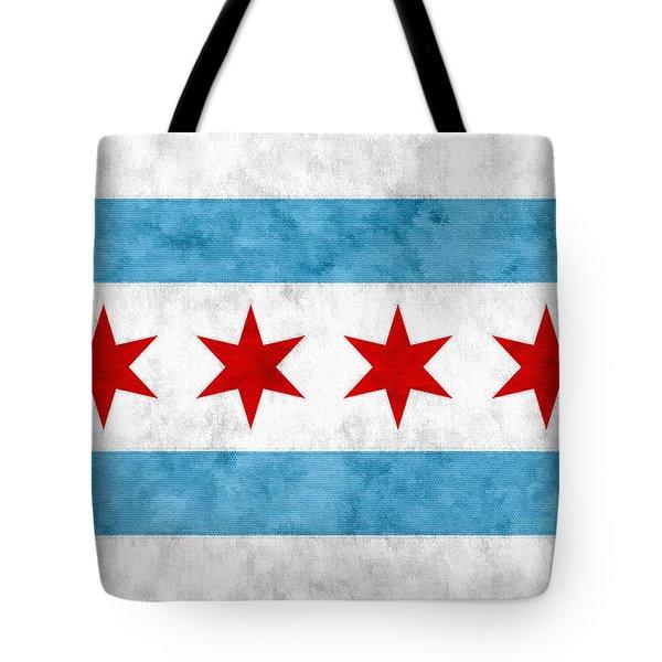 City Of Chicago Flag Tote Bag