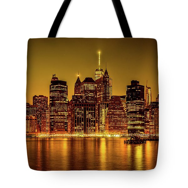 Tote Bag featuring the photograph City Of Gold by Chris Lord