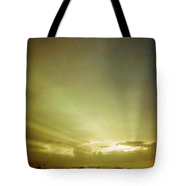City Of Gold In The Sky Tote Bag