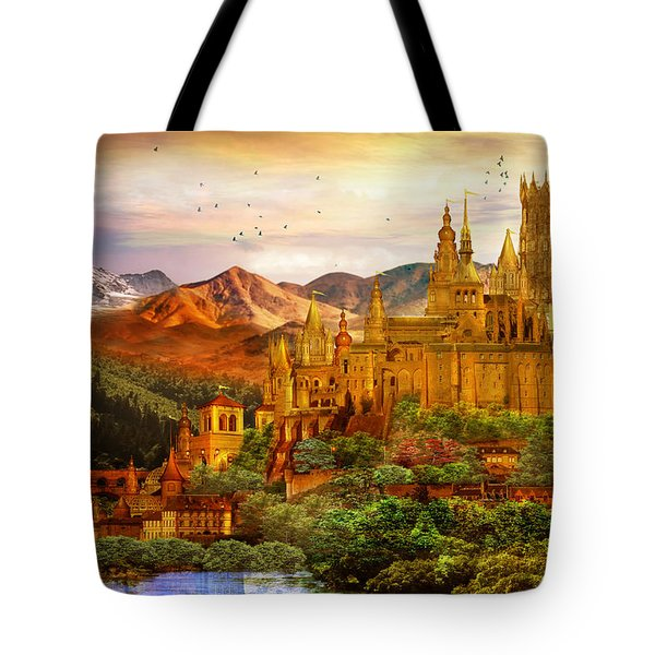 City Of Gold Tote Bag by Mary Hood
