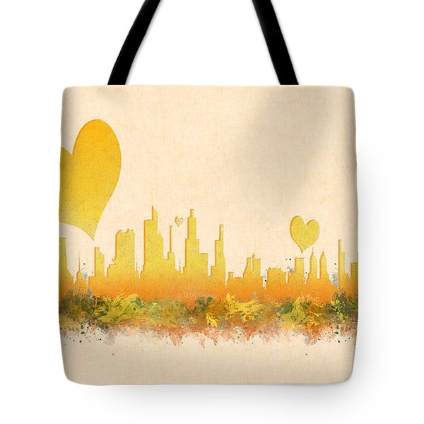 City Of Love Tote Bag