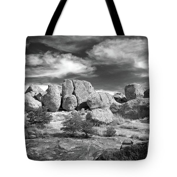 Tote Bag featuring the photograph City Of Rocks And Sky by Martin Konopacki