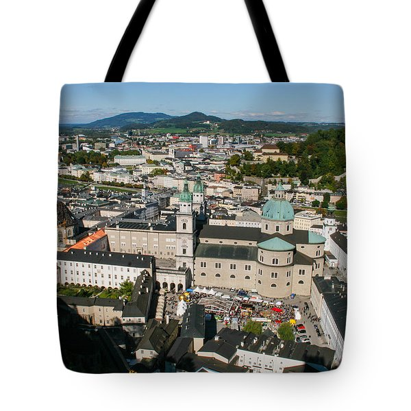 Tote Bag featuring the photograph City Of Salzburg by Silvia Bruno