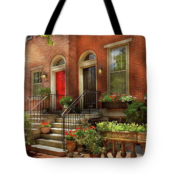 Tote Bag featuring the photograph City - Pa Philadelphia - Pretty Philadelphia by Mike Savad