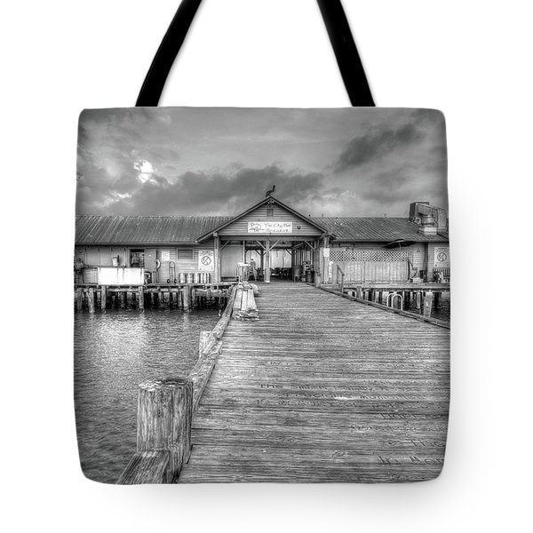 Tote Bag featuring the photograph City Pier Anna Maria Island by Paul Schultz