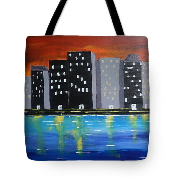 City Scape_night Life Tote Bag