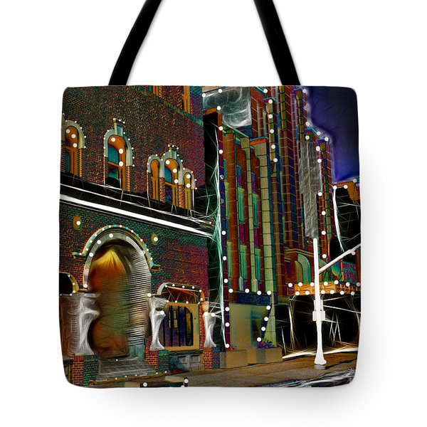 Tote Bag featuring the photograph City Scene by EricaMaxine  Price