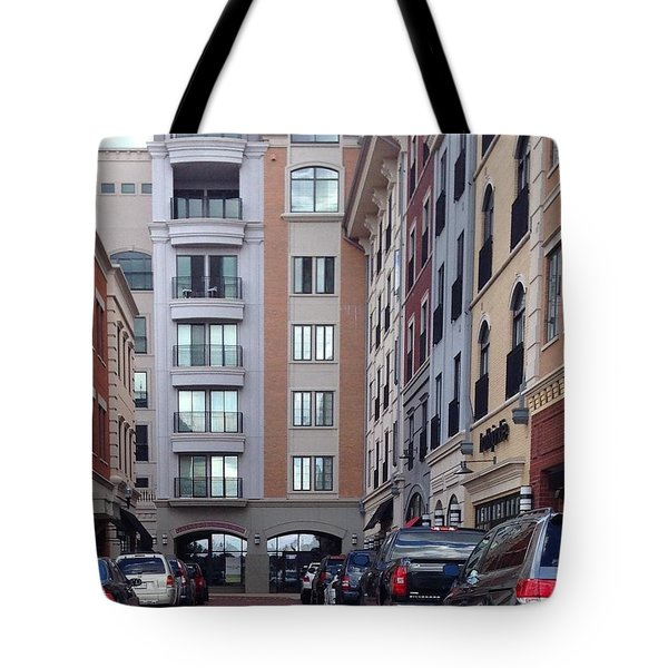 City Scene Tote Bag by Russell Keating