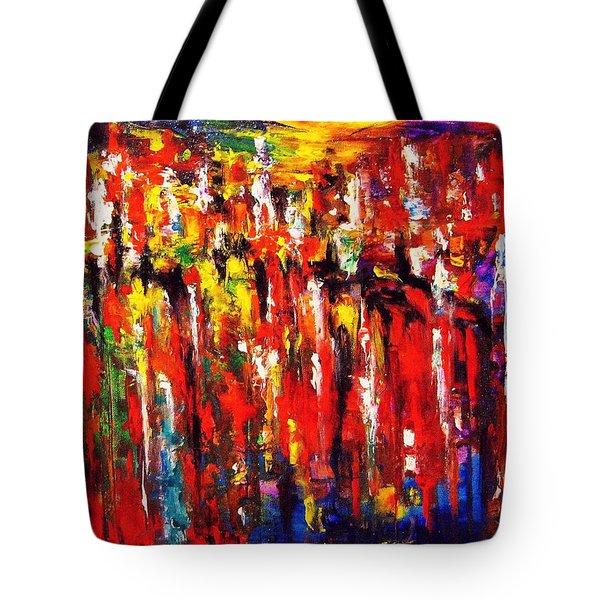City. Series Colorscapes. Tote Bag