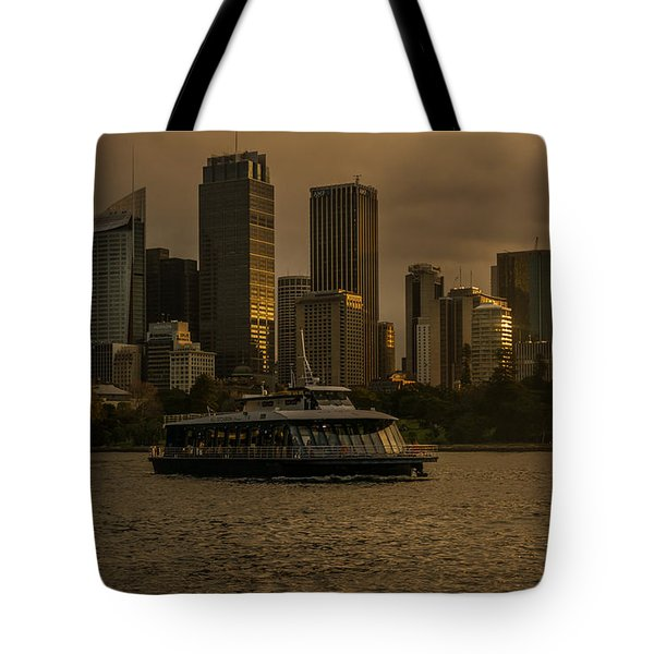 Tote Bag featuring the photograph City Skyline  by Andrew Matwijec