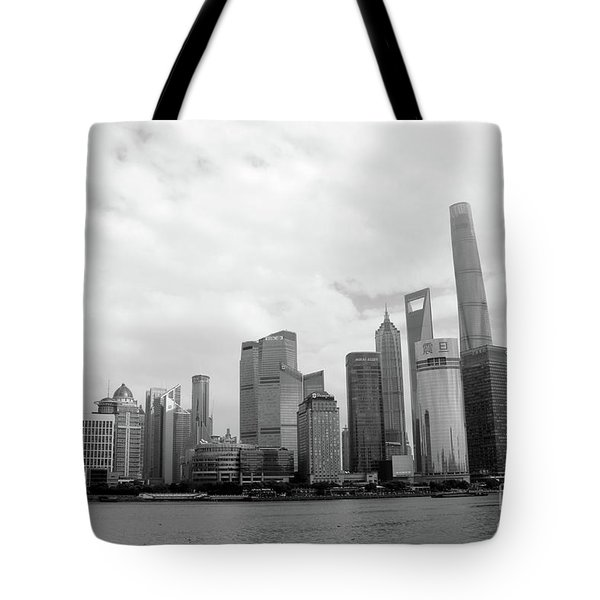 Tote Bag featuring the photograph City Skyline by MGL Meiklejohn Graphics Licensing