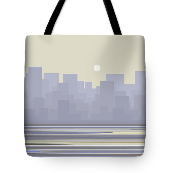 City Skyline Morning Tote Bag