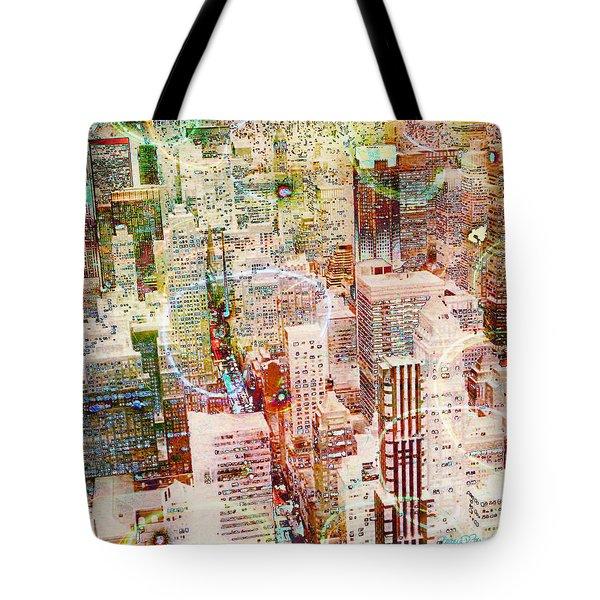City Snowstorm Tote Bag by Barbara Berney