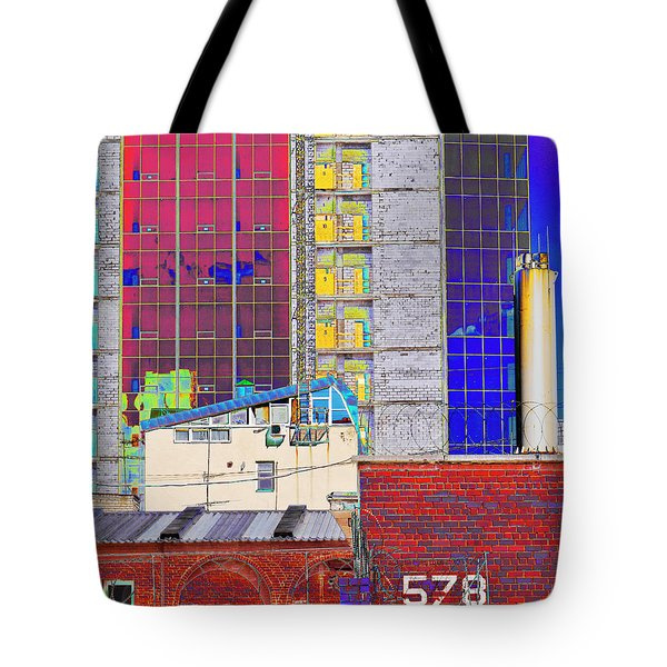 Tote Bag featuring the photograph City Space by Vladimir Kholostykh
