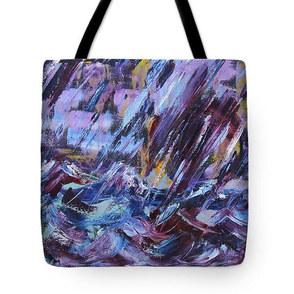 City Storm Abstract Tote Bag