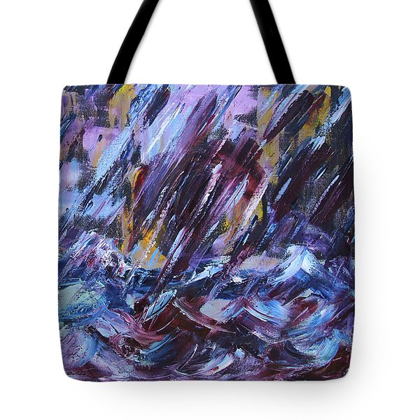 City Storm Abstract Tote Bag