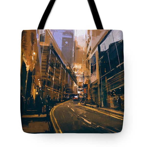 City Street Tote Bag