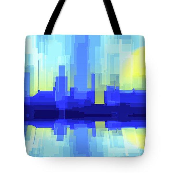 City Sun Silhouette Tote Bag