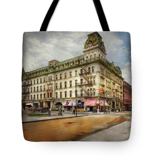 Tote Bag featuring the photograph City - Toledo Oh - Got A Boody Call 1910 by Mike Savad