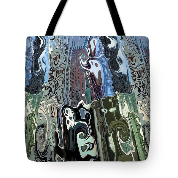 City Towers Tote Bag by Alika Kumar