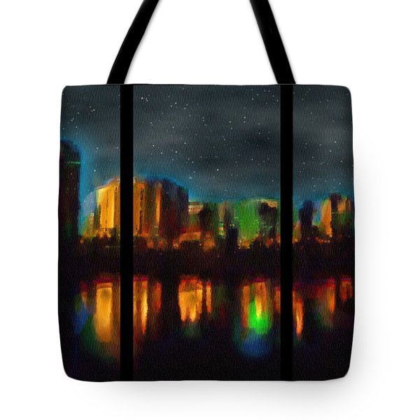 City Under A Blue Moon Tote Bag