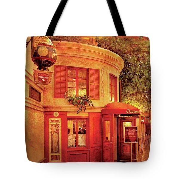 City - Vegas - Paris - Vins Detable Tote Bag by Mike Savad