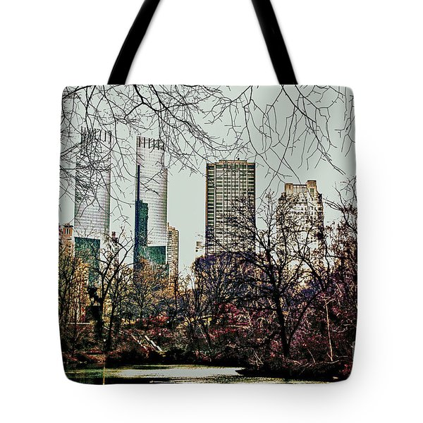 City View From Park Tote Bag by Sandy Moulder
